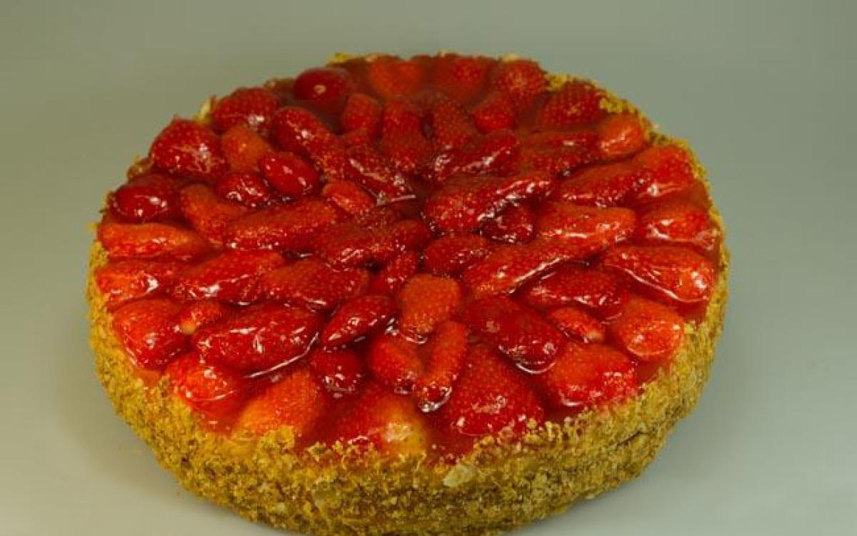 Tarte aux fraises BIO
